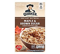 Quaker Oatmeal Instant Maple & Brown Sugar - 10-1.51 Oz