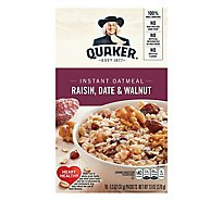 Quaker Oatmeal Instant With Real Raisin Date & Walnut - 10-1.3 Oz