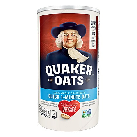 Quaker Oats Quick 1 Minute - 18 Oz