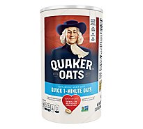 Quaker Oats Whole Grain Quick 1 Minute - 42 Oz