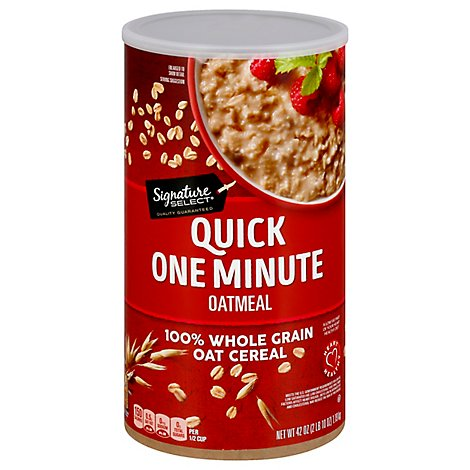Signature SELECT Oatmeal Quick One Minute - 42 Oz