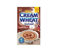 Cream Of Wheat Cereal Hot Instant Maple Brown Sugar - 10 Count