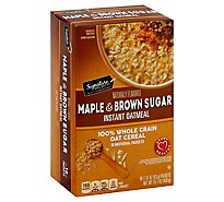 Signature SELECT/Kitchens Oatmeal Instant Maple & Brown Sugar - 10-1.51 Oz