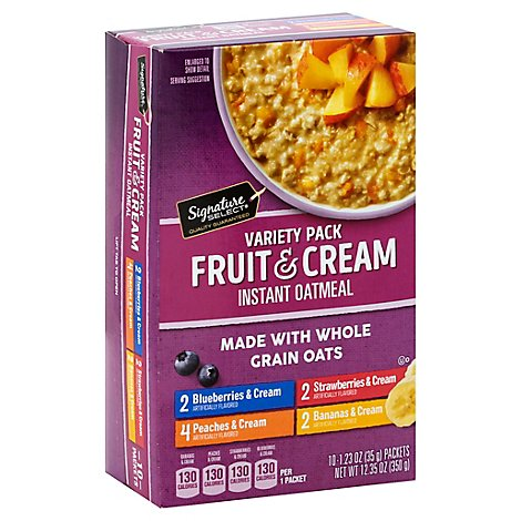 Signature SELECT/Kitchens Oatmeal Instant Fruit & Cream Variety Pack - 10-1.23 Oz