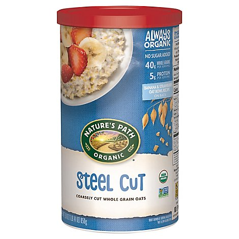 Natures Path Organic Oats Steel Cut - 30 Oz