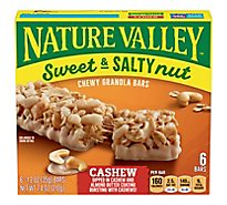 Nature Valley Granola Bars Sweet & Salty Nut Cashew - 6-1.2 Oz