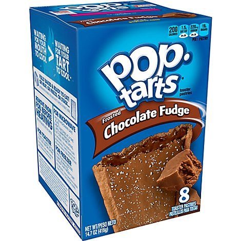 Pop-Tarts Toaster Pastries Frosted Chocolate Fudge 8 Count - 14.7 Oz
