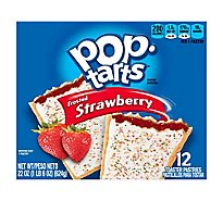 Pop-Tarts Toaster Pastries Frosted Strawberry 12 Count - 22 Oz