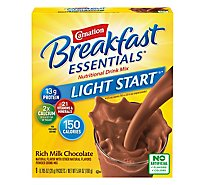 Carnation Breakfast Essentials Powder Drink Mix No Sugar Added Rich Milk Chocolate - 8-0.705 Oz