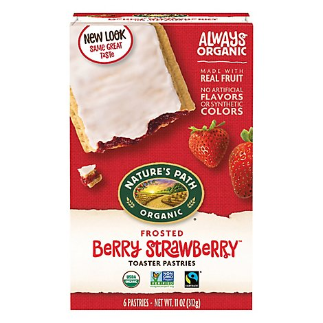 Natures Path Organic Toaster Pastries Frosted Berry Strawberry - 11 Oz