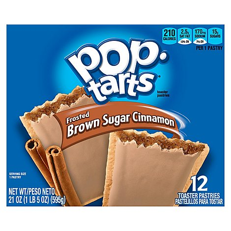 Pop-Tarts Toaster Pastries Frosted Brown Sugar Cinnamon 12 Count - 21 Oz