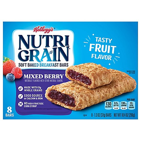 Nutri-Grain Breakfast Bars Soft Baked Mixed Berry - 8-1.3 Oz