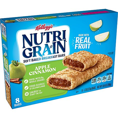 Nutri-Grain Breakfast Bars Soft Baked Apple Cinnamon - 8-1.3 Oz