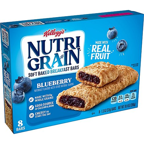 Nutri-Grain Soft Baked Breakfast Bars Blueberry 8 Count - 10.4 Oz