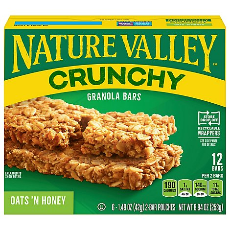 Nature Valley Granola Bars Crunchy Oats n Honey - 6-1.49 Oz