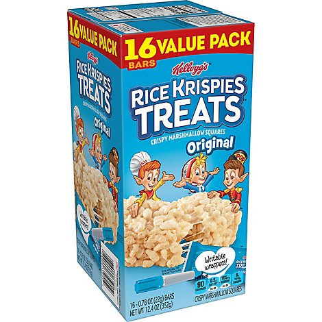 Rice Krispies Treats Crispy Marshmallow Squares Original Value Pack 16 Count - 12.4 Oz
