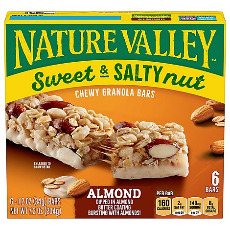 Nature Valley Granola Bars Sweet & Salty Nut Almond - 6-1.2 Oz