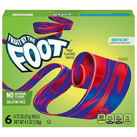 Betty Crocker Fruit Flavored Snacks Fruit By The Foot Berry Tie-Dye - 6-0.75 Oz