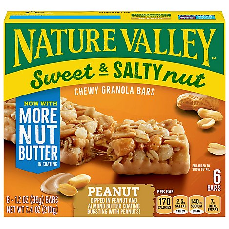 Nature Valley Granola Bars Sweet & Salty Nut Peanut - 6-1.2 Oz