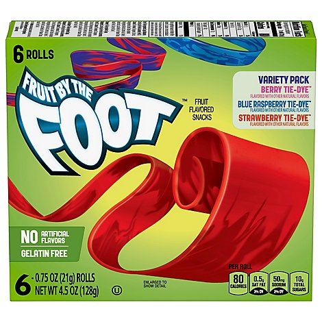 Betty Crocker Fruit By The Foot Fruit Flavored Snacks Variety Pack - 6-0.75 Oz