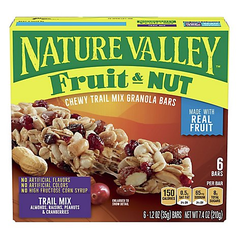 Nature Valley Granola Bars Chewy Trail Mix Fruit & Nut - 6-1.2 Oz