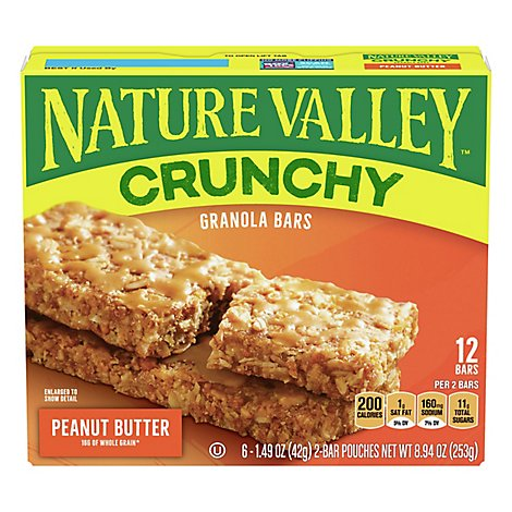 Nature Valley Granola Bars Crunchy Peanut Butter - 6-1.49 Oz