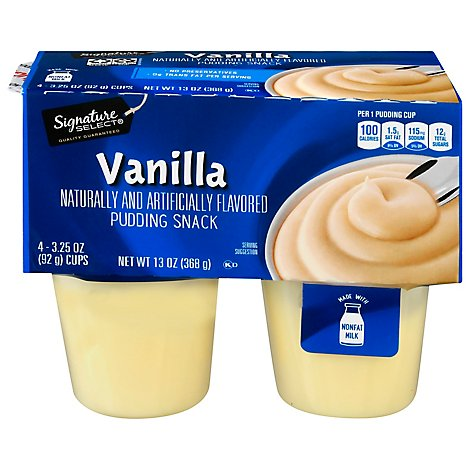 Signature SELECT Pudding Snack Vanilla - 4-3.25 Oz