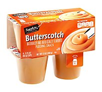 Signature SELECT Pudding Snack Butterscotch - 4-3.25 Oz