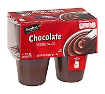 Signature SELECT Pudding Snack Chocolate - 4-3.25 Oz