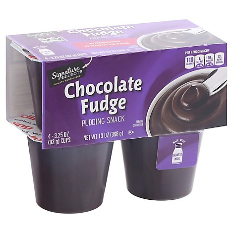 Signature SELECT/Kitchens Pudding Snack Chocolate Fudge - 4-3.25 Oz
