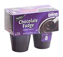 Signature SELECT Pudding Snack Chocolate Fudge - 4-3.25 Oz