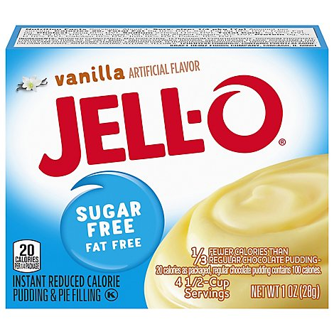 JELL-O Pudding & Pie Filling Instant Sugar Free Vanilla - 1 Oz