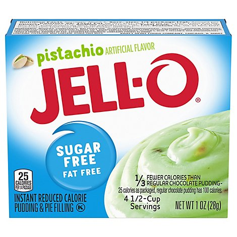 JELL-O Pudding & Pie Filling Instant Sugar Free Pistachio - 1 Oz