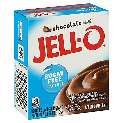 JELL-O Pudding & Pie Filling Instant Sugar Free Chocolate - 1.4 Oz