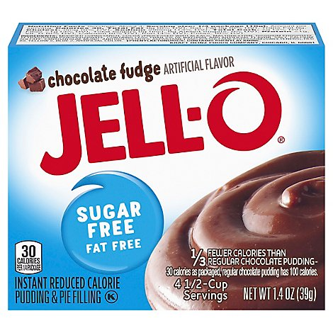 JELL-O Pudding & Pie Filling Instant Sugar Free Chocolate Fudge - 1.4 Oz