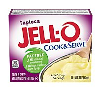 JELL-O Pudding & Pie Filling Cook & Serve Fat Free Tapioca - 4.3 Oz