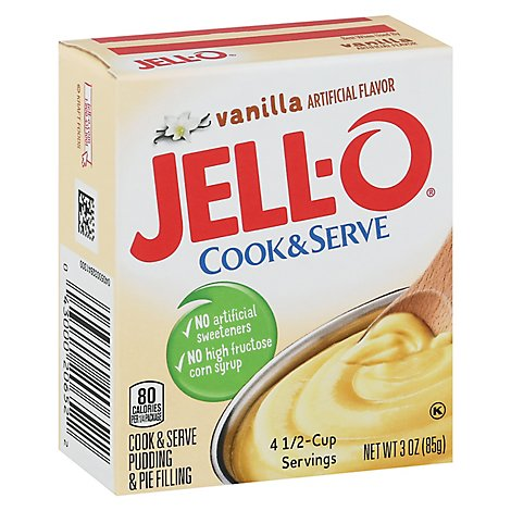 JELL-O Pudding & Pie Filling Cook & Serve Vanilla - 3 Oz