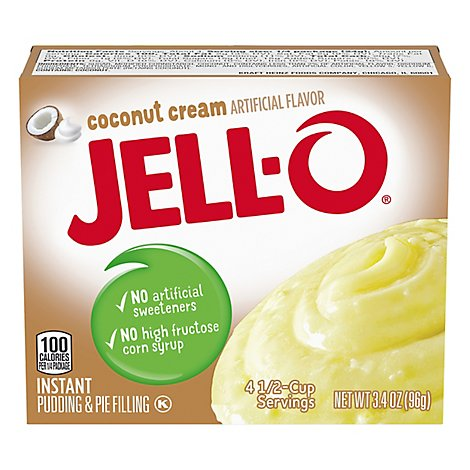 JELL-O Pudding & Pie Filling Instant Coconut Cream - 3.4 Oz