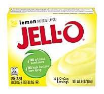 JELL-O Pudding & Pie Filling Instant Lemon - 3.4 Oz