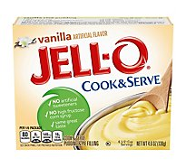 JELL-O Pudding & Pie Filling Cook & Serve Vanilla - 4.6 Oz