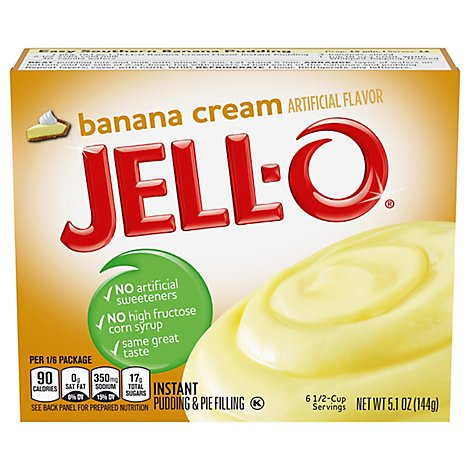 JELL-O Pudding & Pie Filling Instant Banana Cream - 5.1 Oz