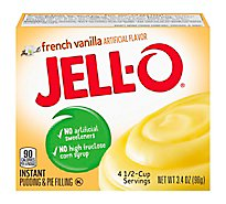 JELL-O Pudding & Pie Filling Instant French Vanilla - 3.4 Oz