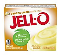 JELL-O Pudding & Pie Filling Instant Banana Cream - 3.4 Oz