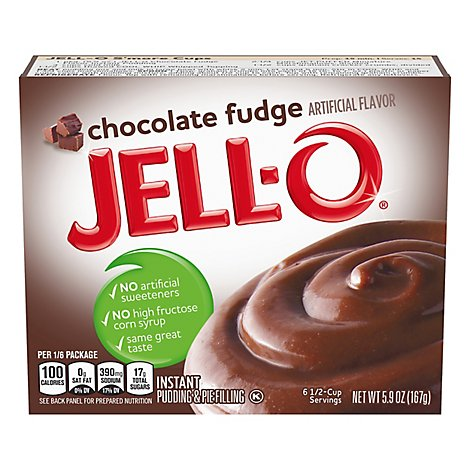 JELL-O Pudding & Pie Filling Instant Chocolate Fudge - 5.9 Oz