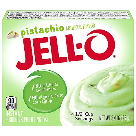 JELL-O Pudding & Pie Filling Instant Pistachio - 3.4 Oz