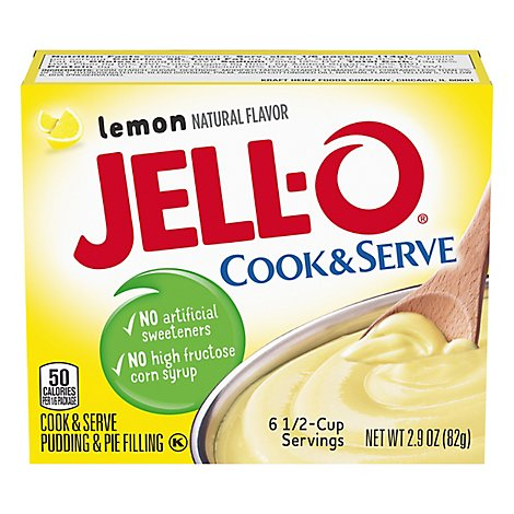 JELL-O Pudding & Pie Filling Cook & Serve Lemon - 2.9 Oz