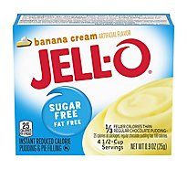 JELL-O Pudding & Pie Filling Instant Sugar Free Banana Cream - 0.9 Oz