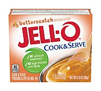 JELL-O Pudding & Pie Filling Cook & Serve Butterscotch - 3.5 Oz