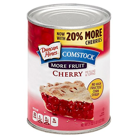 Duncan Hines Comstock Pie Filling & Topping More Fruit Cherry - 21 Oz