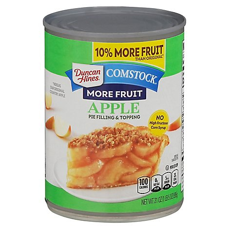 Duncan Hines Comstock Pie Filling & Topping More Fruit Apple - 21 Oz